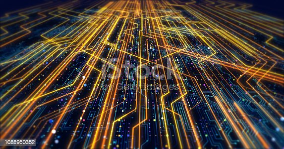 1195482922istockphoto Futuristic Circuit Board Render With Bokeh Effects 1088950352