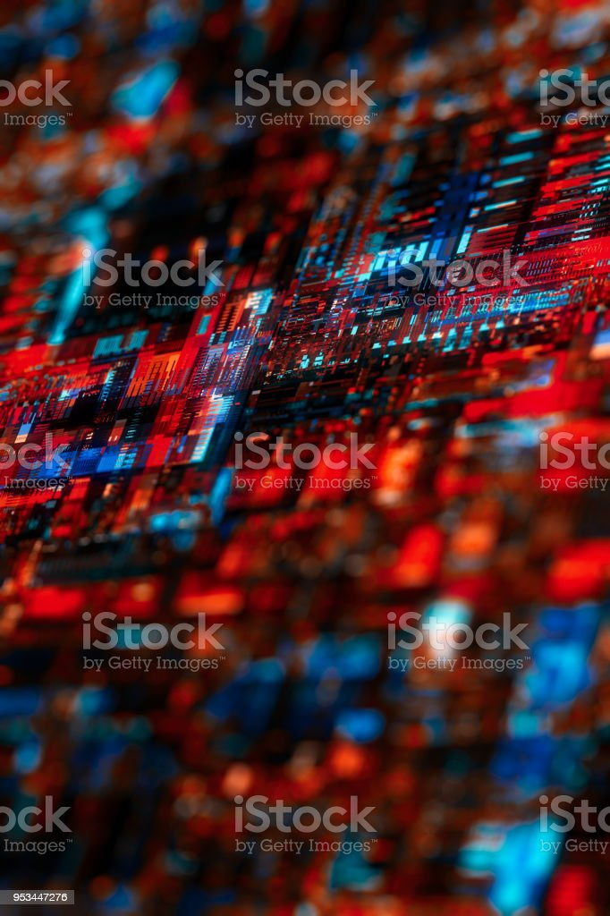 futuristic circuit board technology background stock photo
