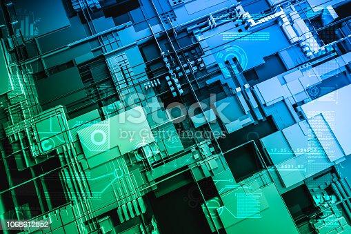Futuristic Circuitry Close Up