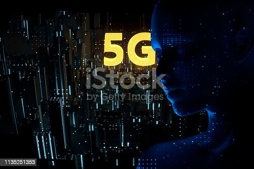 691790416istockphoto Futuristic City 5G electromagnetic signals 1135251353