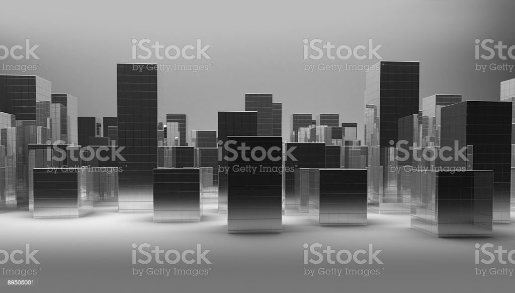 Futuristic city royalty-free stock photo