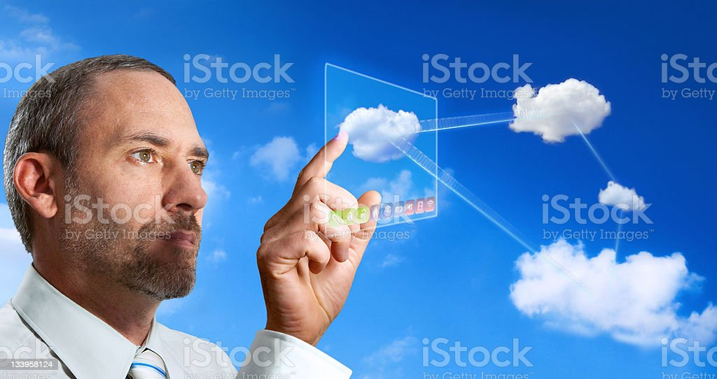 Futuristic Cloud Computer royalty-free stock photo