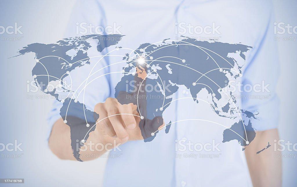 Futuristic Communication Concept royalty-free stock photo