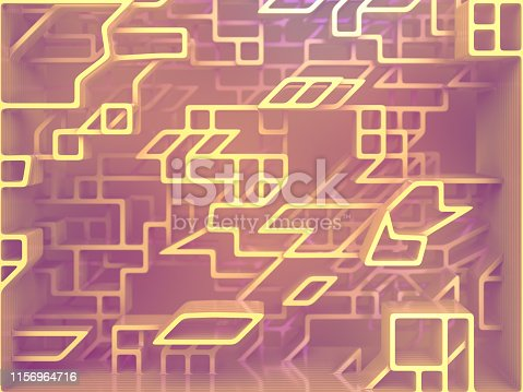 926309124istockphoto Futuristic composition of pink colored rounded shapes. Computer generated abstract design. 3D rendering illustration 1156964716