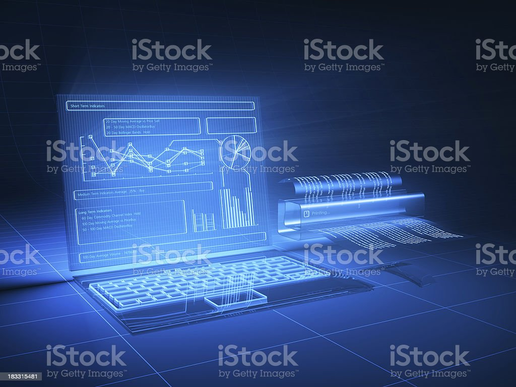 Futuristic computer stock photo