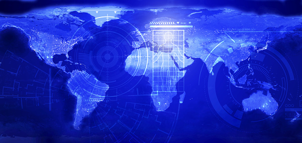 185274311 istock photo ARTIFICIAL INTELLIGENCE futuristic  concept. Global communications and networking 1197242256
