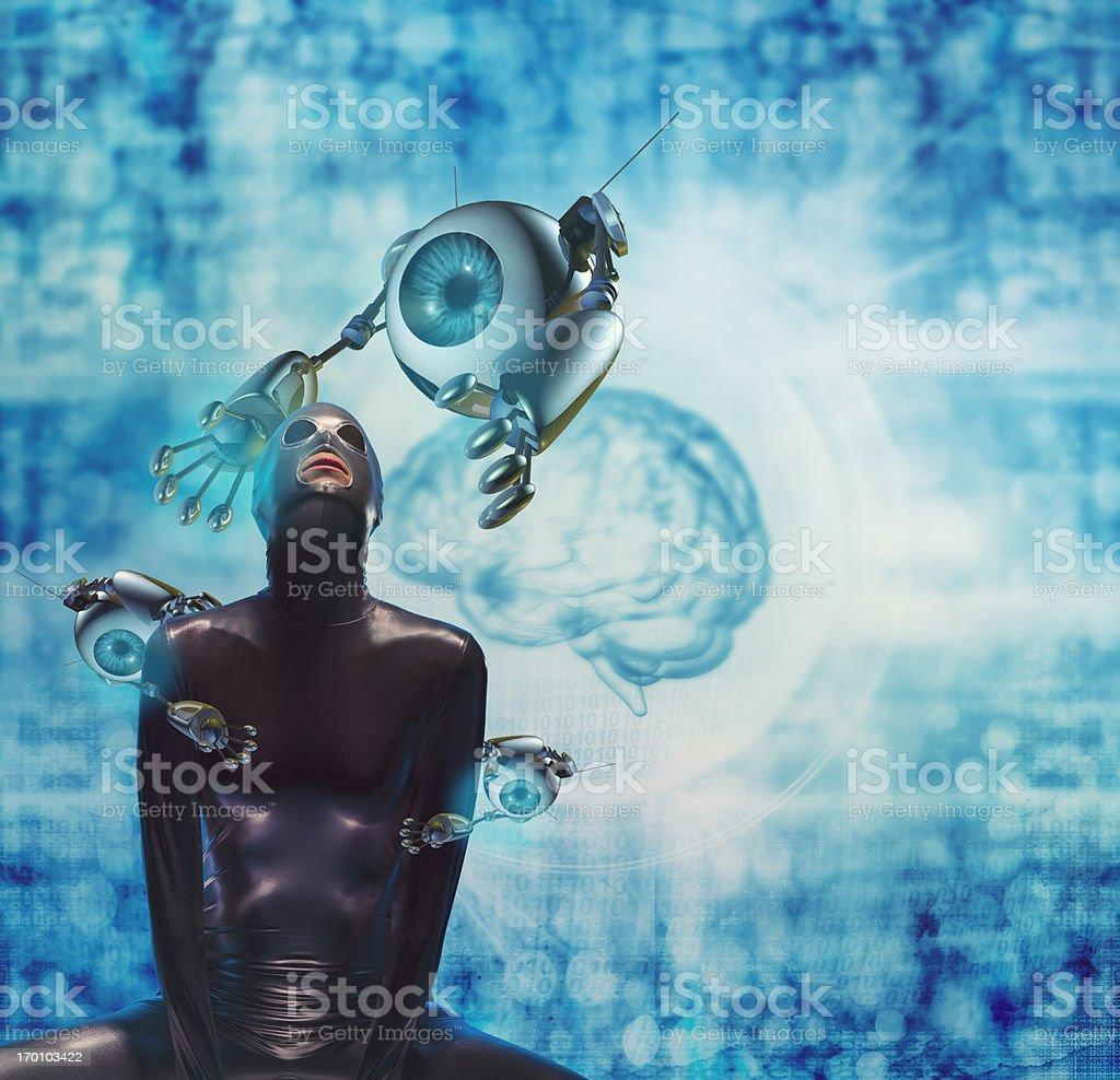 Futuristic concept of medical exam stock photo