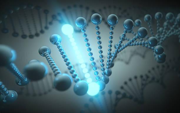 dna concetto futuristico - mutazione genetica foto e immagini stock