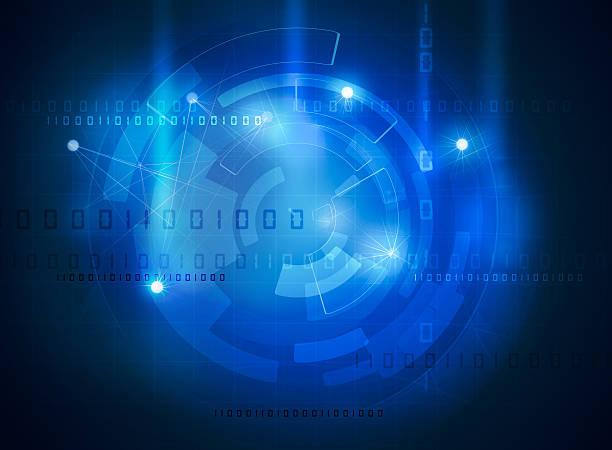 futuristic data high tech interface – Foto