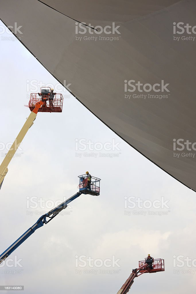 Futuristic design construction site. royalty-free stock photo