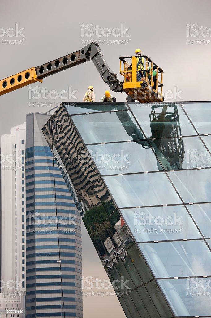 Futuristic design construction site. royalty-free stock photo