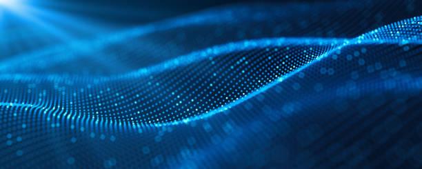 futuristischer digitaler blockchain-hintergrund. abstrakte verbindungstechnologie und digitales netzwerk. 3d-illustration der big data und kommunikationstechnologie. - digital stock-fotos und bilder