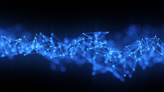 istock Futuristic digital blockchain background, fintech technology 869423492