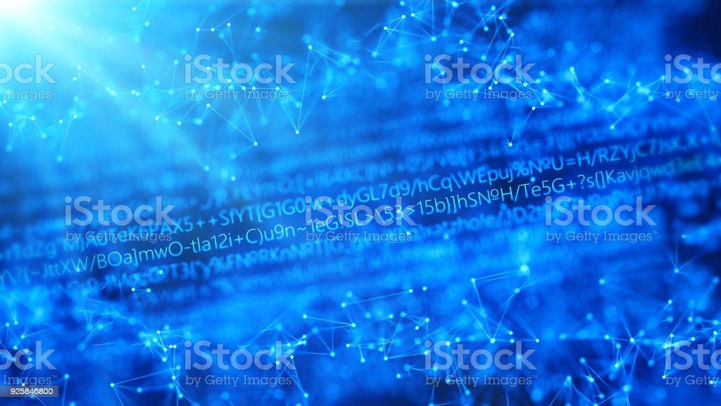 Futuristic digital blockchain background, fintech technology stock photo