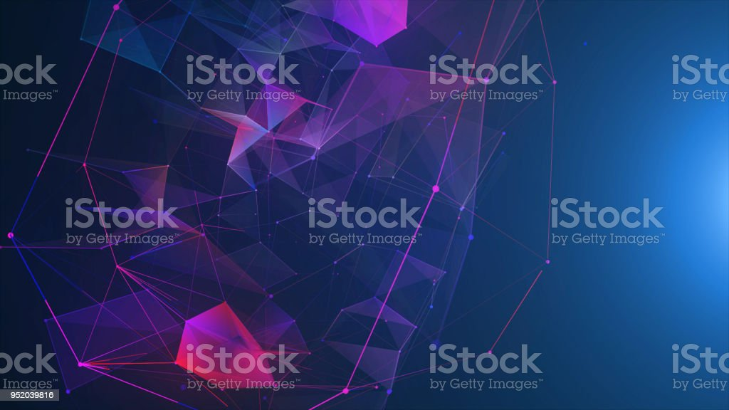 Futuristic digital blockchain background, fintech technology - Foto stock royalty-free di Affari