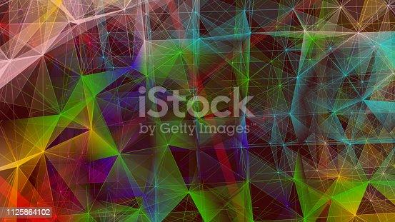 istock Futuristic digital blockchain background 1125864102