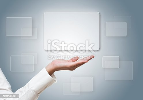 istock Futuristic digital display with copy space (Click fo more) 533516513