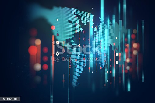 istock futuristic earth map technology abstract background 621921512
