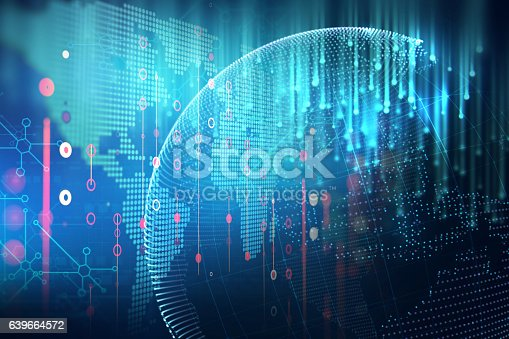 istock futuristic earth map technology abstract background 639664572