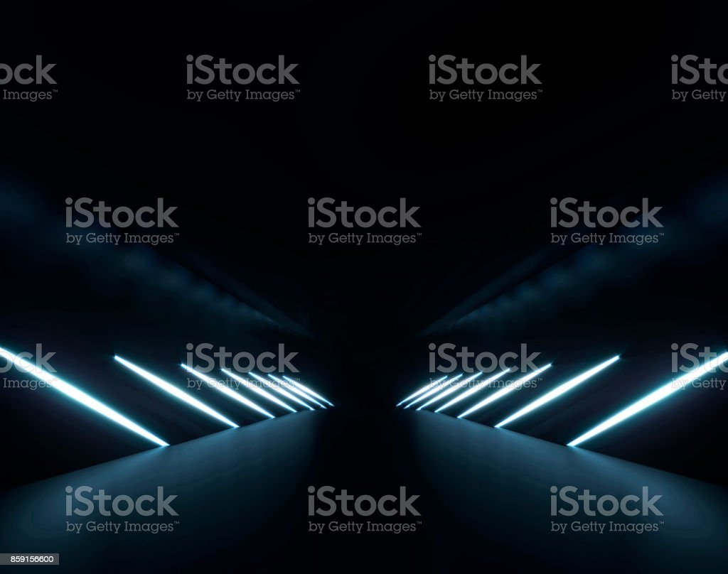 Futuristic elegant light glow background 3D rendering stock photo