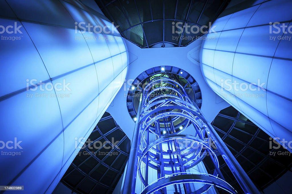 Futuristic Elevator royalty-free stock photo