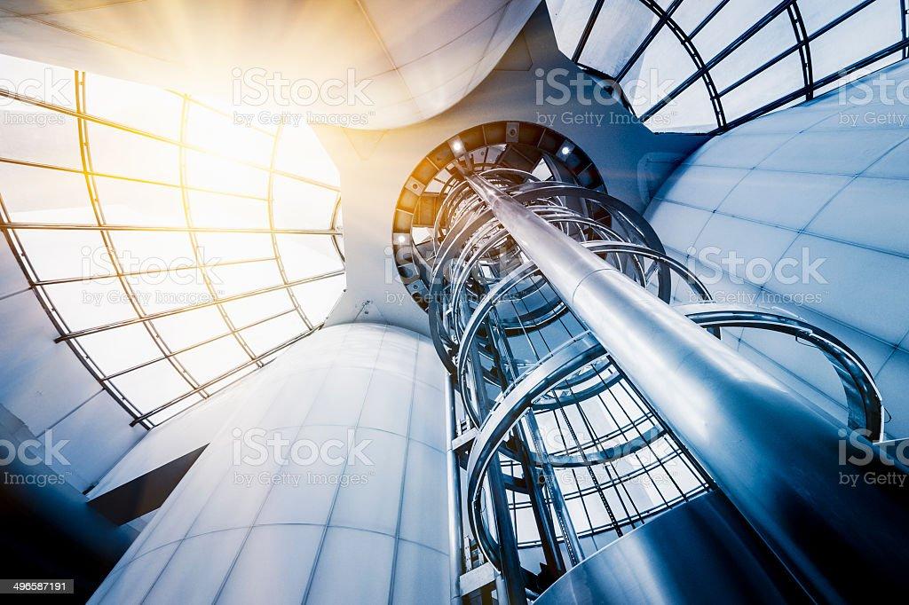 futuristic elevator stock photo