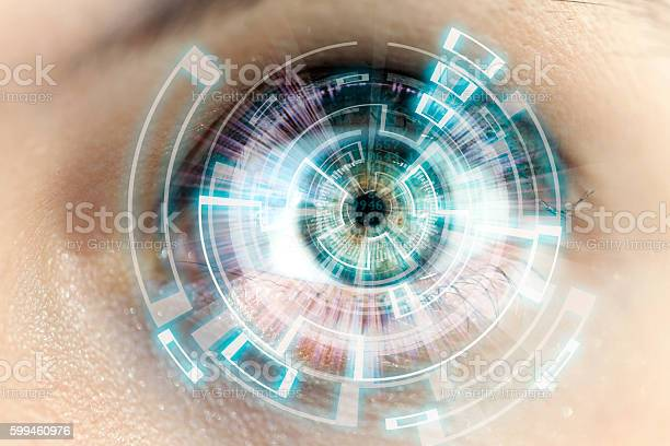 Futuristic Eye Stock Photo - Download Image Now