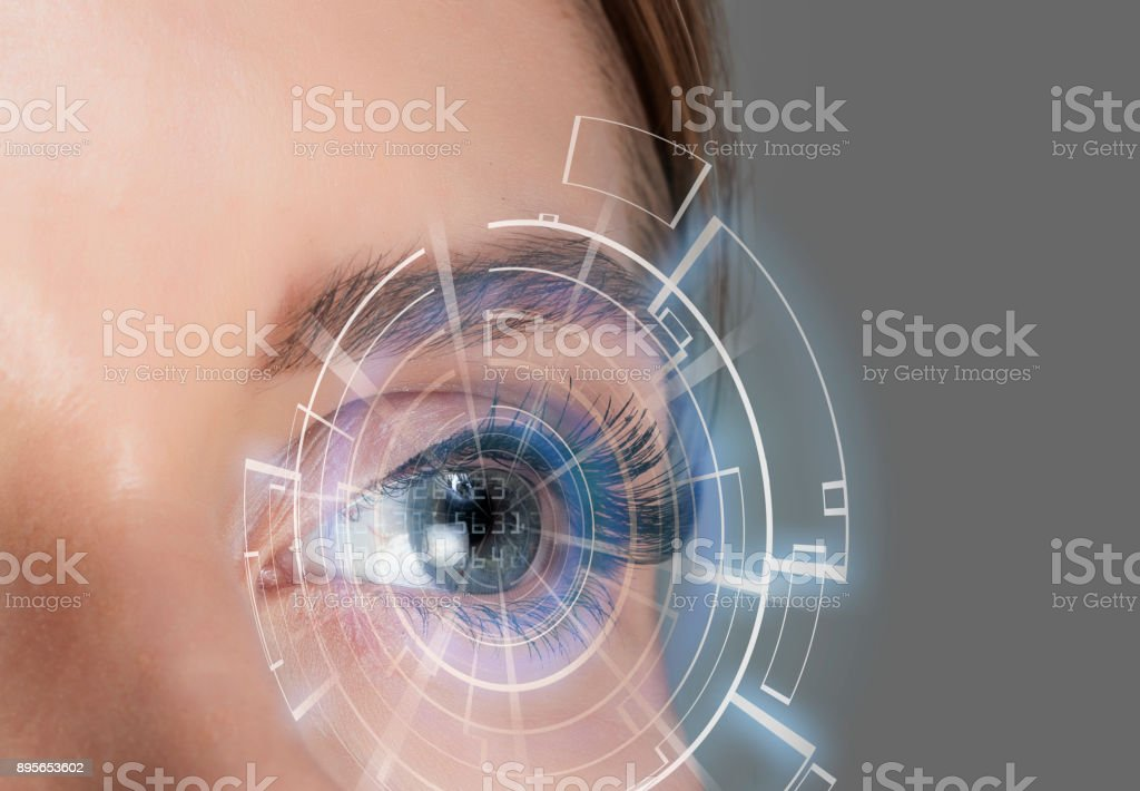 Futuristic eye foto stock royalty-free