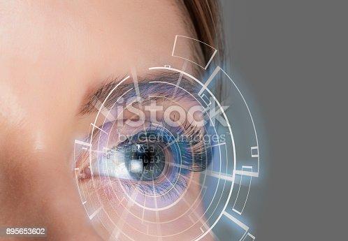 Futuristic eye