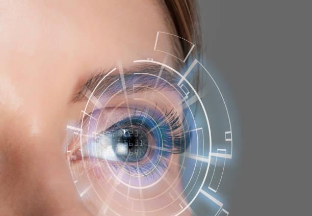 Futuristic eye Futuristic eye iris eye stock pictures, royalty-free photos & images