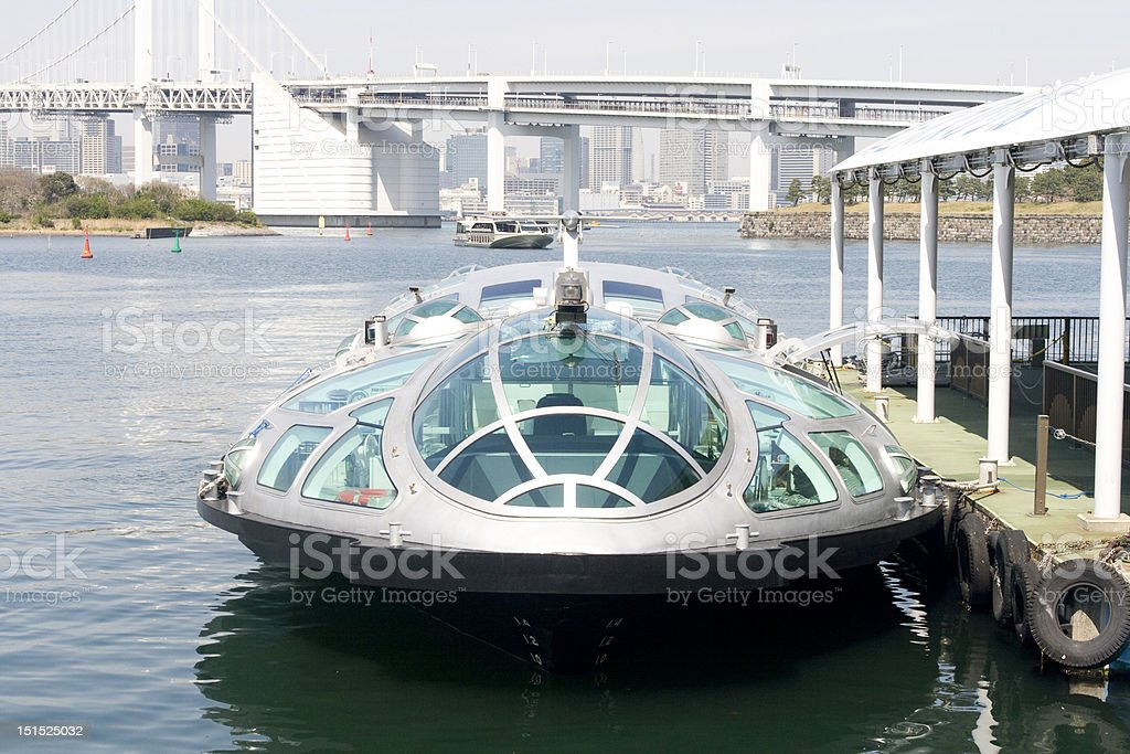 Futuristic ferry boat in Tokyo royalty-free stock photo