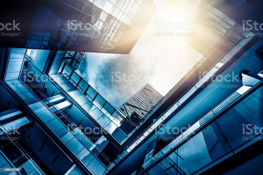 Futuristic financial distric royalty-free stock photo