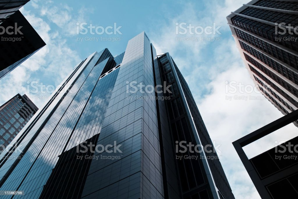 Futuristic financial district royalty-free stock photo