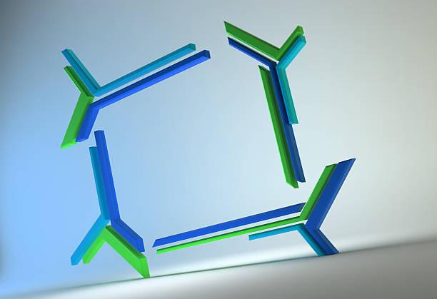 Futuristic frame stock photo