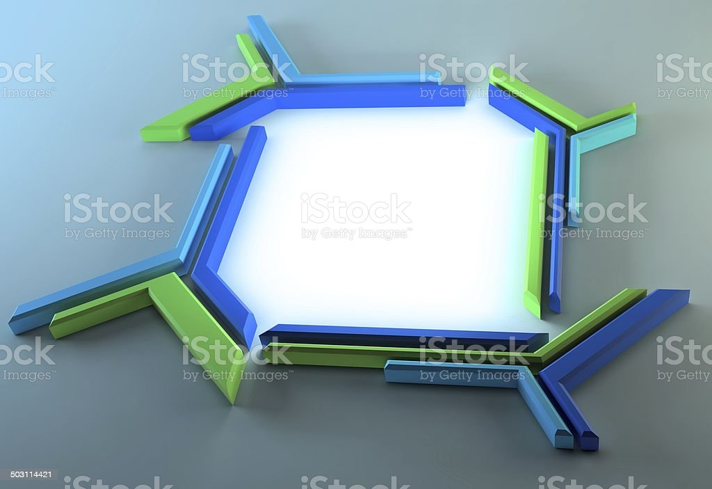 Futuristische frame – Foto