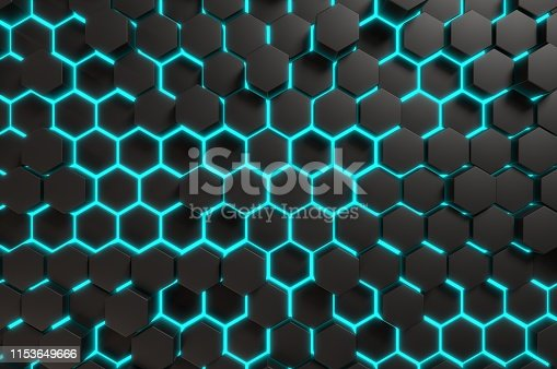 517581264 istock photo Futuristic Geometric Abstract 1153649666