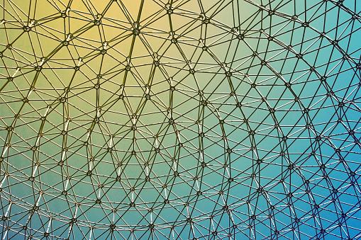 Futuristic geometric pattern made of glass