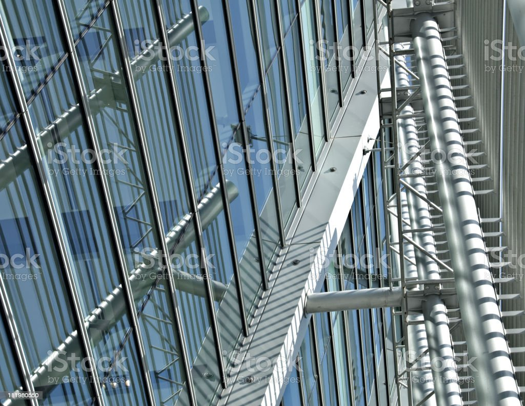 Futuristic Glass and Steel Modern Building royalty-free stock photo