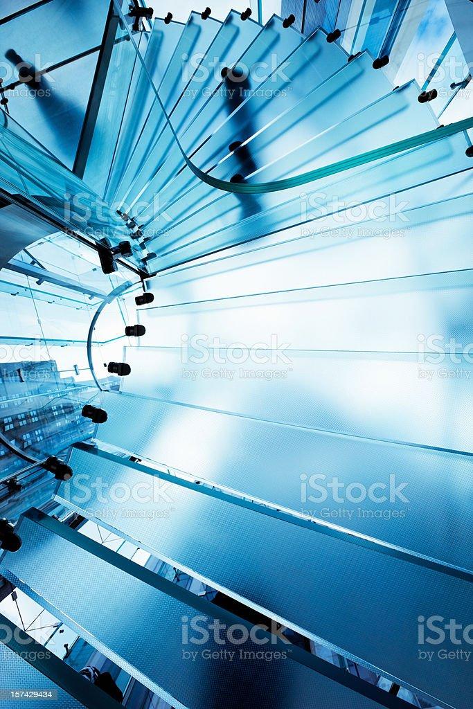 Futuristic Glass Staircase royalty-free stock photo
