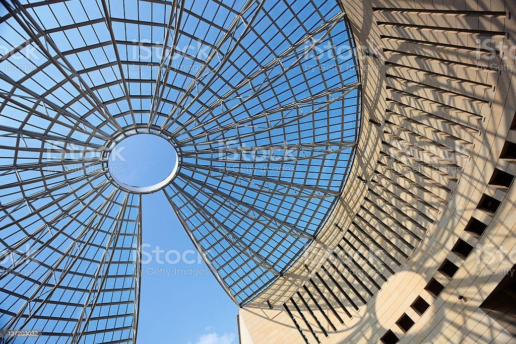 Futuristic glass-steel dome stock photo