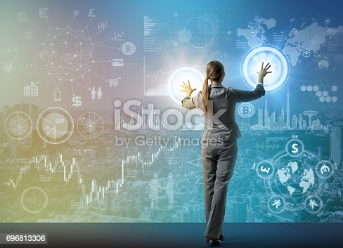 istock futuristic graphical interface and system engineer, abstract image visual 696813306