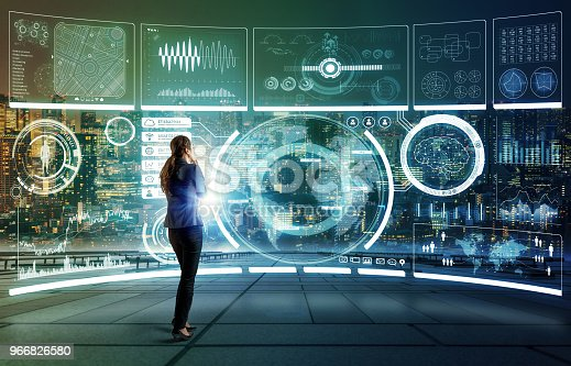 872670540 istock photo Futuristic graphical user interface concept. 966826580