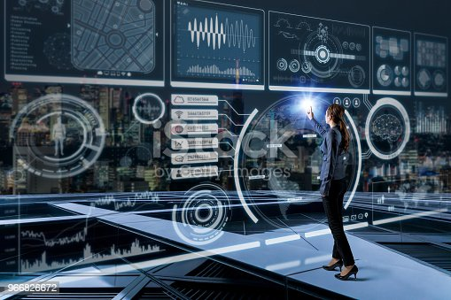 872670540 istock photo Futuristic graphical user interface concept. 966826672