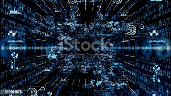 istock Futuristic graphical user interface. 1092964878