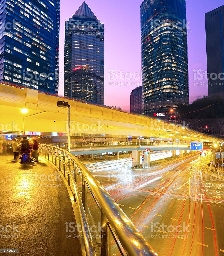 Futuristic Highway royalty-free stock photo