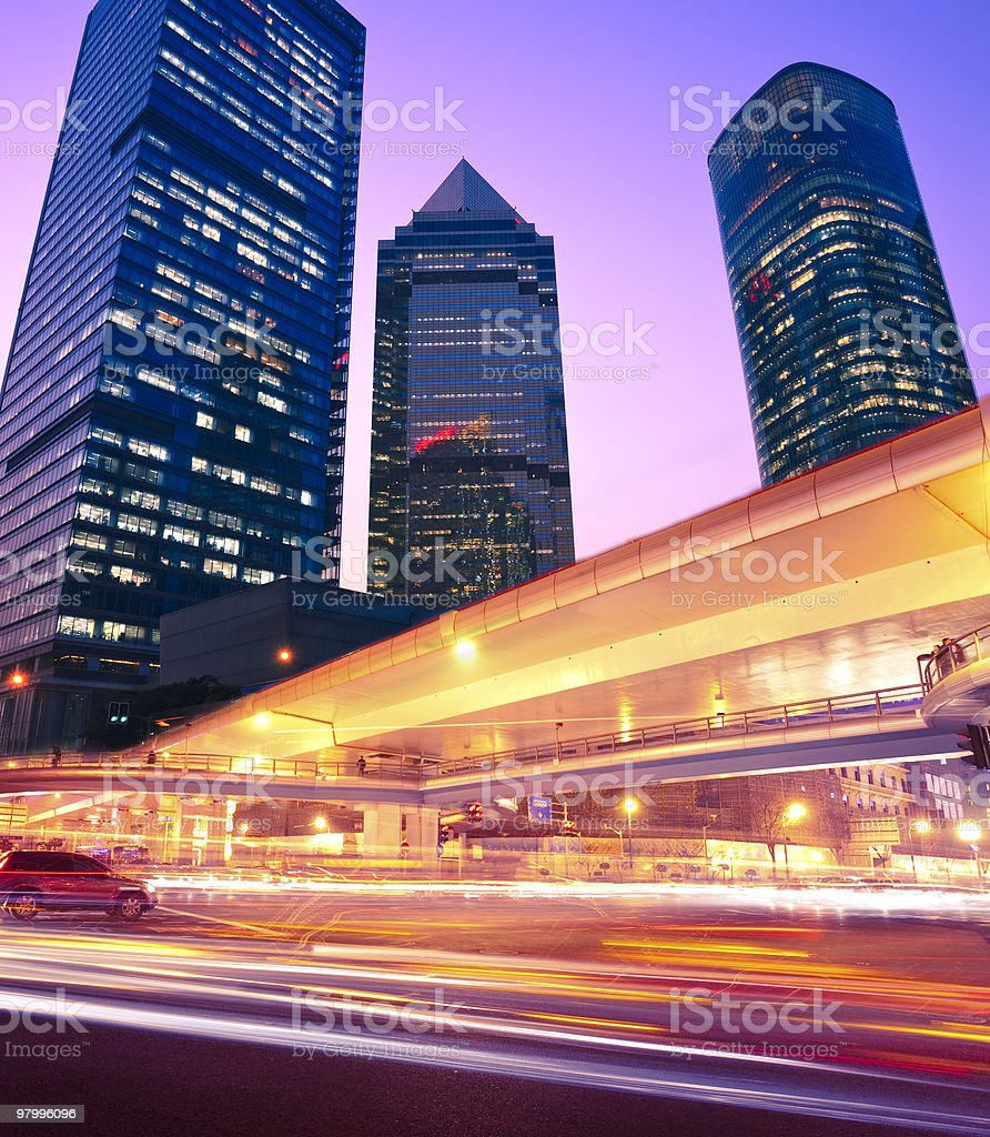Futuristic Highway royalty-free stock photo