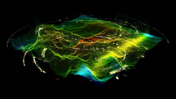 futurystyczny holograficzny wyświetlacz head up - geologia zdjęcia i obrazy z banku zdjęć