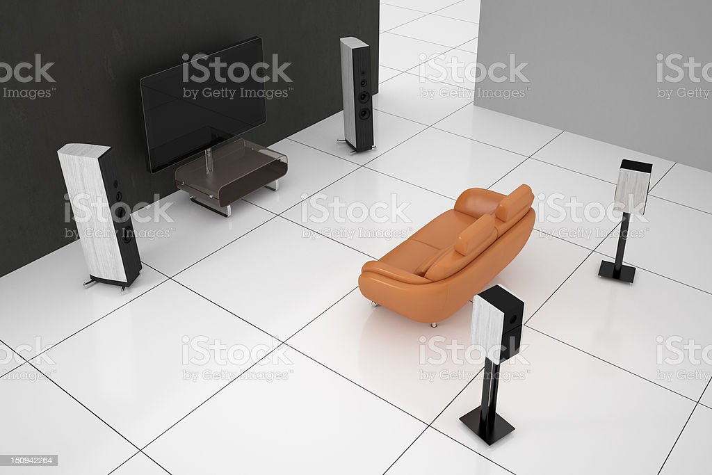 Futuristic home theater royalty-free stock photo