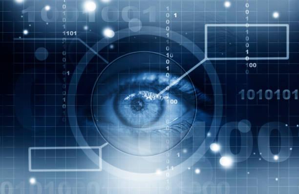 Futuristic human eye stock photo