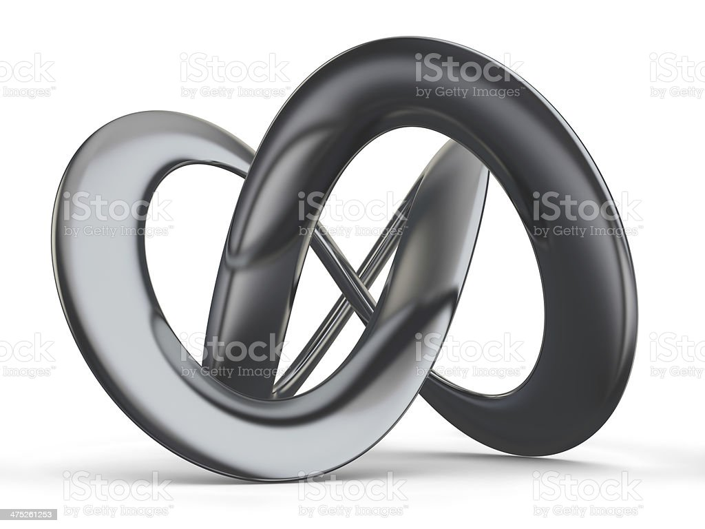 Futuristic Infinity Shape stock photo